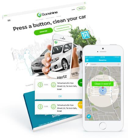 Car wash app design